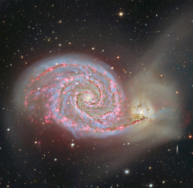 Barred Spiral Galaxy NGC 6744 in Pavo  Astronomy Sketch