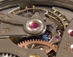 Балансирный механизм ручных часов