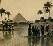 Великая пирамида в Гизе. Фото 19 века